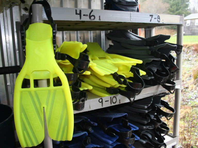 SCUBAPRO TWN JET FINS All of our equipment is top of the line. We use SCUBAPRO, Harvey's and TUSA.