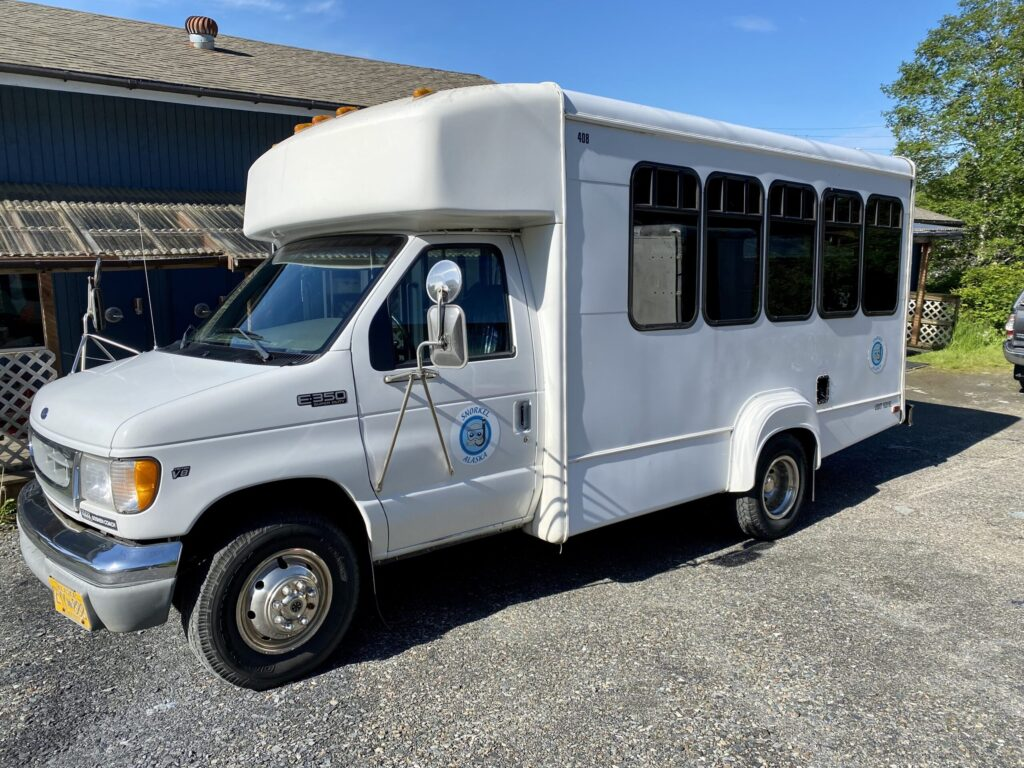 THE SNORKEL ALASKA BUS We provide roundtrip transportation from downtown Ketchikan.